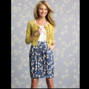 Boden limited edition silk skirt blue dandelion